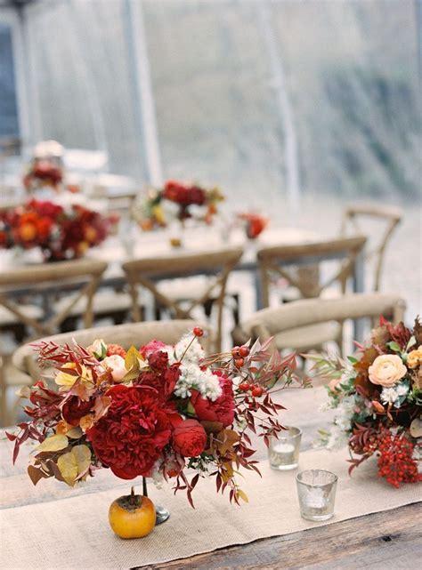 Fall Wedding Reception Table Ideas Photograph Fall wedding