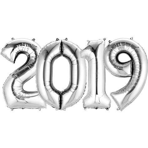 Failure to do so may affect benefits. Giant Silver 2019 Number Balloon Kit Image #1 in 2019 ...