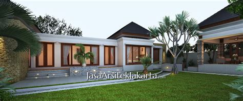 rumah gaya bali modern jasa arsitek jakarta