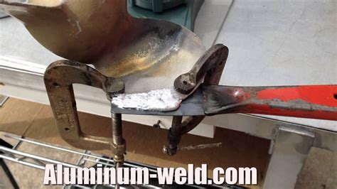 Boat Propeller Repair by Aluminum Propeller Repair With A Propane Torch