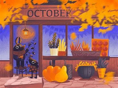 October Cozy Illustrations Cosy Autumn Dribbble