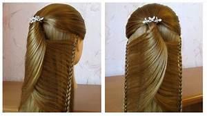 Coiffure Simple Femme : tuto coiffure simple belle coiffure facile faire cheveux long mi long coiffure pour fille ~ Melissatoandfro.com Idées de Décoration