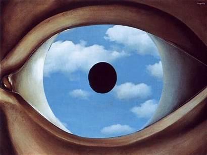 Magritte Eye Eyes Cloudy Rene Surrealism Sky