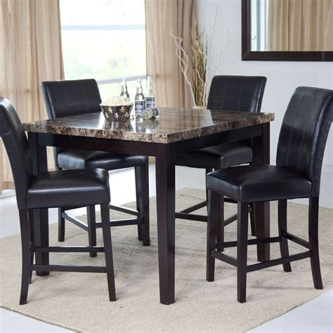 modern counter height table modern counter height dining table with design image 30347