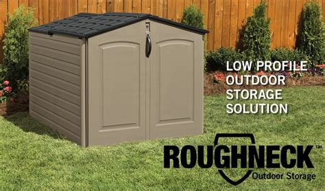 Rubbermaid Roughneck Modular Slide Lid Storage Shed by Roughneck Slide Lid Storage Shed