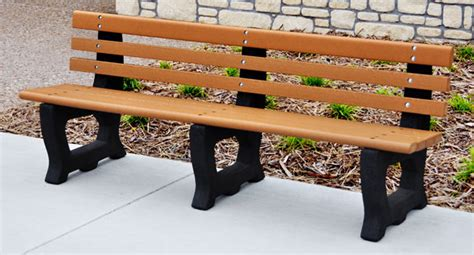 Belson Outdoors Benches by Brooklyn Recycled Plastic Outdoor Bench With Arched Frames