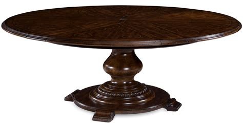 Round Space Saver Dining Table w SelfStoring Leaves eBay