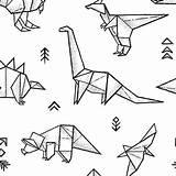 Origami Dinosaur Tattoo Spoonflower Dinosaurs Fabric Coloring Digitally Fabrics Colorful Printed Drawing Cartoon Tattoos Triassic Bunt Penguinhouse Dinasour Mehr Dessin sketch template