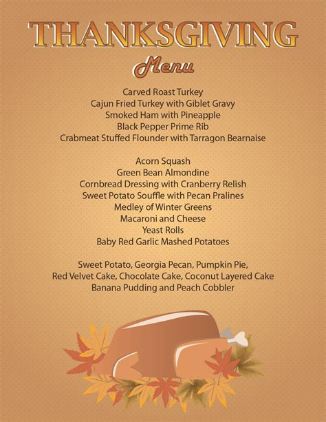 menu for thanksgiving serving thanksgiving dinner today from 4pm 8pm gsu panther dining blog