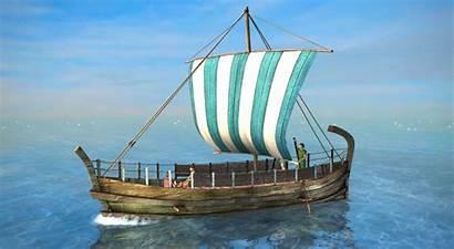 Ancient Greek Ship Merchant Ships Sailing Okor