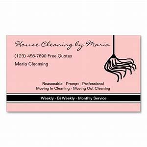 Maid housekeeper business cards estate agent business for Housekeeper business card examples