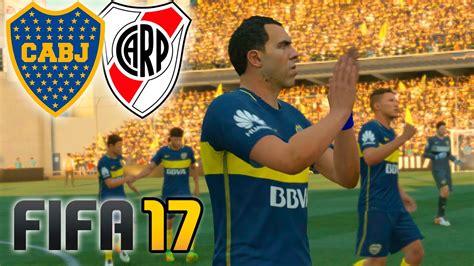 Boca Vs River  Fifa 17 Partido Completo  La Bombonera