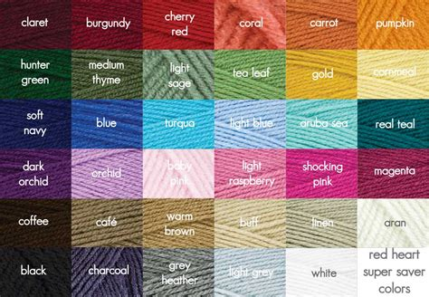 redheart yarn colors yarn myideasbedroom