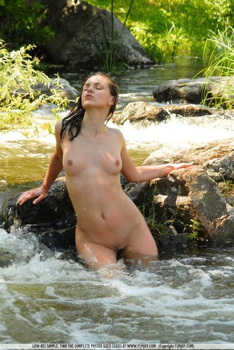 Teen Girl At The Creek Naked Neighbour