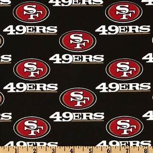 NFL Cotton Broadcloth San Francisco 49ers Black/Red