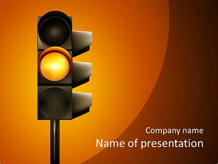 changing traffic light powerpoint template backgrounds