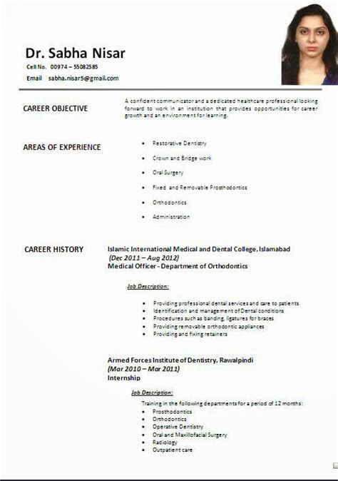 resume models doctors