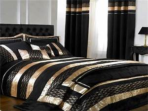 Resemblance, Of, Black, And, Gold, Bedding, Sets, For, Adding