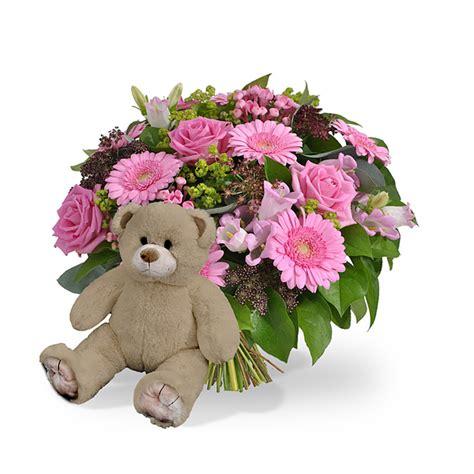 bloemen leusderweg geboorte meisje bruine beer 35cm bestellen en bezorgen