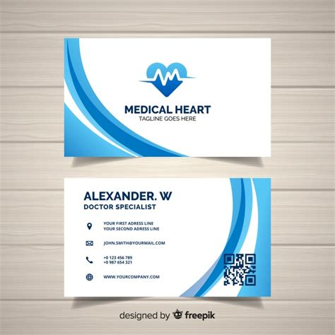 creative business card concept  hospital  doctor