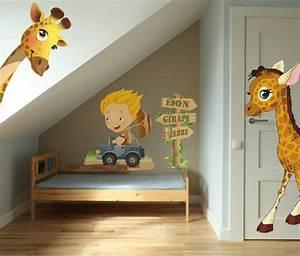 Stickers Animaux De La Jungle : stickers girafe vente stickers animaux de la jungle pour enfants decore ta chambre ~ Mglfilm.com Idées de Décoration