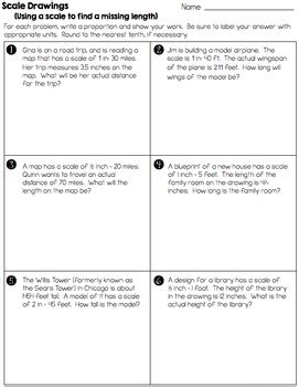 Scale Drawings  Practice Worksheets And Assessment (7g1) By Math On The Move