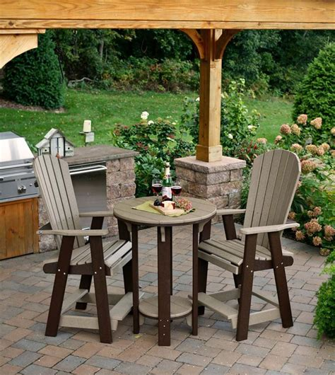 bistro table and chair set poly pub table and chair set from dutchcrafters amish