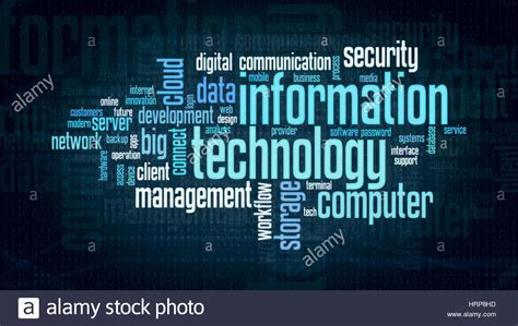 Word Cloud With Terms About Information Technology, Flat