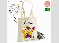 Tote Bag personnalisé avec le dessin de votre enfant imprimé
