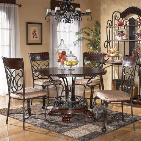 ashley furniture dining tables and chairs ashley furniture alyssa 5 piece round dining table side