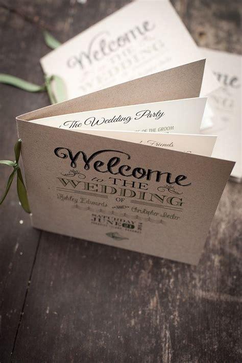order of service wedding program beach by