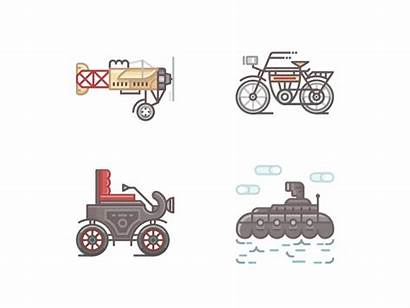 Transport Animation 1900s Icons Daniel Dribbble Fun