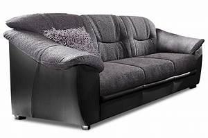 Couch Mit Federkern : 3er sofa schwarz mit federkern sofas zum halben preis ~ Michelbontemps.com Haus und Dekorationen
