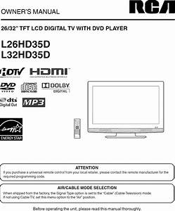 Rca L32hd35d User Manual Lcd Television Manuals And Guides