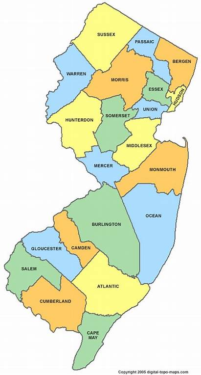 County Jersey Map Maps Planning Digital Legal