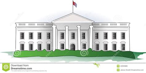 White House Clip The White House Stock Vector Image Of Illustration