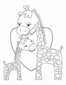 Baby Giraffe Coloring Pages - Bestofcoloring.com