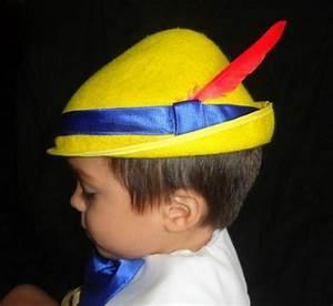 custom pinocchio costume hat yellow tyrolean alpine styl With pinocchio hat template