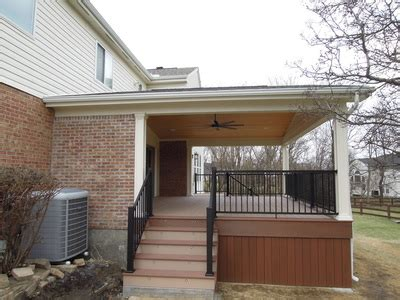 azek covered deck w aluminum railing west chester