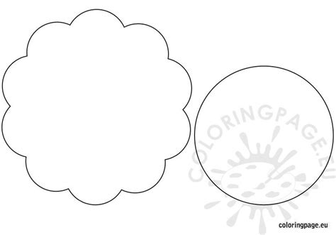 flowers banner template coloring page