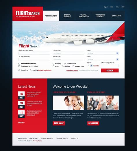 air r駸ervation si鑒e airline tickets website template 30072