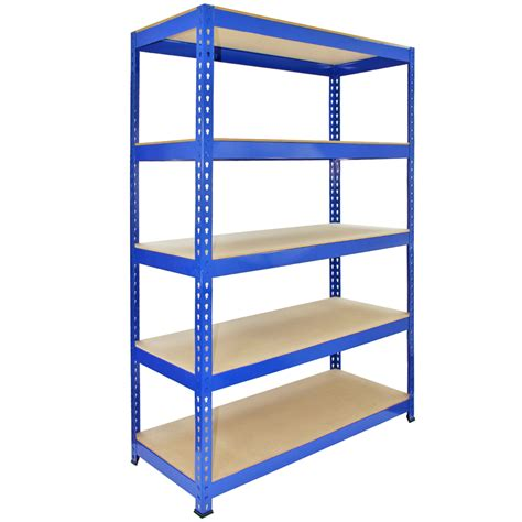 garage storage shelving systems 3 x q rax racking blue 90 x 50 x 180cm 2 x racking blue 120 x 50 x 180cm