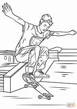 Coloring Skateboarding Trick Skateboard Printable Sheets Drawing Boy Entitlementtrap Coloriage Activities sketch template