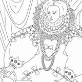 Coloring Pages Elizabeth Queen Subscribing Thanks sketch template
