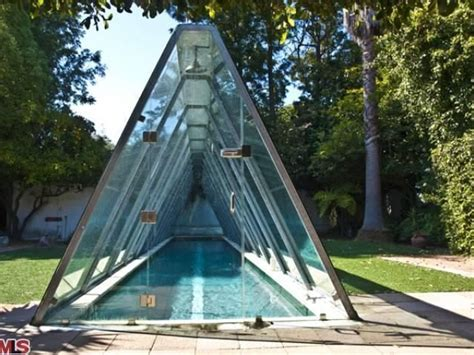 studio city home  enclosed lap pool listed