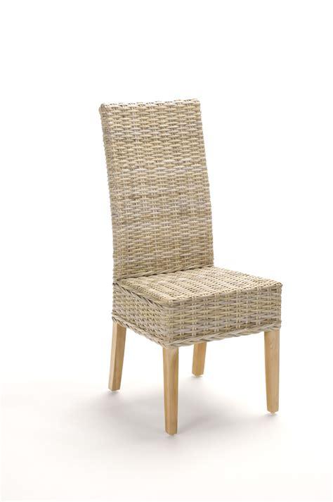chaise pour salle a manger chaise en rotin gris tressé kubu brin d 39 ouest