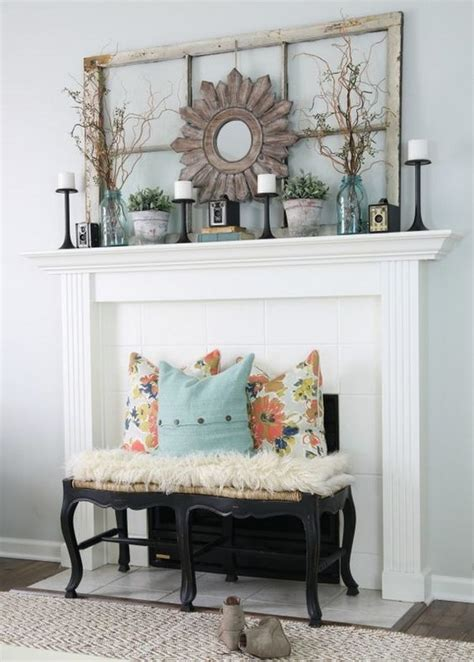 living room mantel decor 30 pretty rustic living room ideas noted list