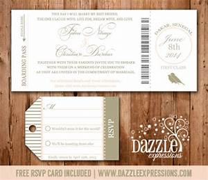 boarding pass wedding invitation rsvp card included With passport wedding invitations with boarding pass rsvp