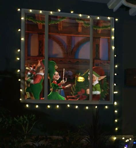 awesome diy christmas outdoor projector