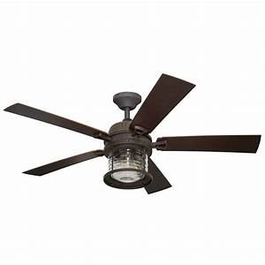 Ceiling fan light volts : Allen roth stonecroft in rust indoor outdoor